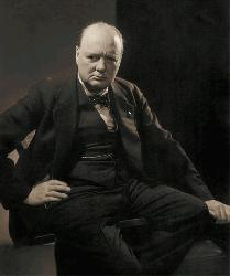 An unpublished photo of Winston Churchill in 1932, originally photographed by Edward Steichen for Vanity Fair