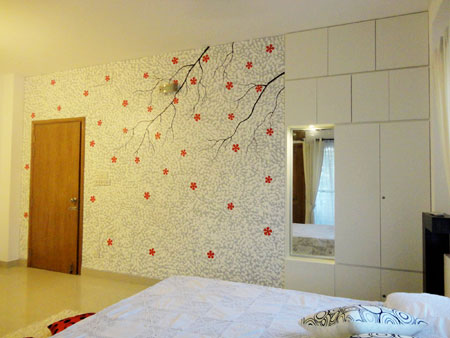 Bedroom walls canvased for Bedroom decoration in bd