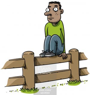 Image result for sit on the fence