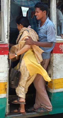 Sexual harassment in bus in india