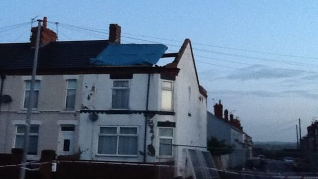 William Sitch's house on the corner of Catherine Street lost its entire roof in the tornado