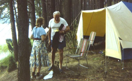 Cardinal Wojtyla and Anna-Teresa Tymieniecka on a camping trip in 1978