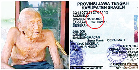 World s oldest person discovered in indonesia at the age Who is the oldest hollywood actor still alive