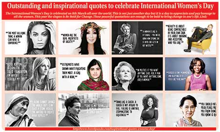 Outstanding and inspirational quotes to celebrate International Women's Day