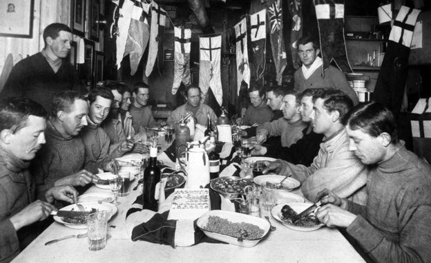 Captain Robert Falcon Scott (seated centre, back) and members of his ill-fated expedition to Antarctica