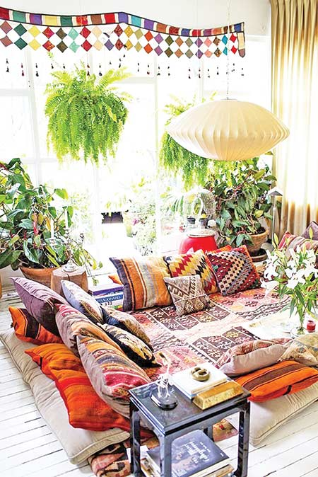Decorating with pillow