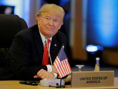 US President Donald Trump is attending meetings with the 10-member Association of Southeast Asian Nations (ASEAN) in Manila on Monday.