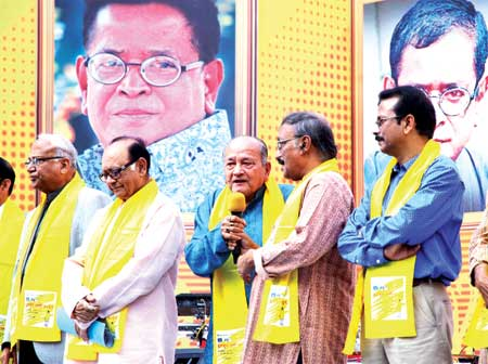 Channel i organised 'Humayun Mela' at its office in the capital on Monday marking the 69th birth anniversary of renowned writer Humayun Ahmed.	photo : Observer
