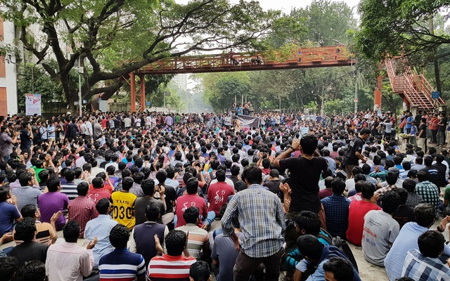 Students at the Bangladesh University for Engineering and Technology, BUET hold protest rally over a list of demands.
