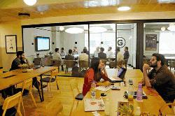 Co-working spaces gaining traction