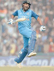 Sharma's third double ton leads India to series-levelling win
