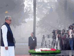 President pays homage to martyrs