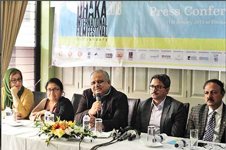 Organisers at the press conference to announce the opening of the festival