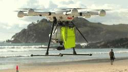 Drone saves swimmers in world first