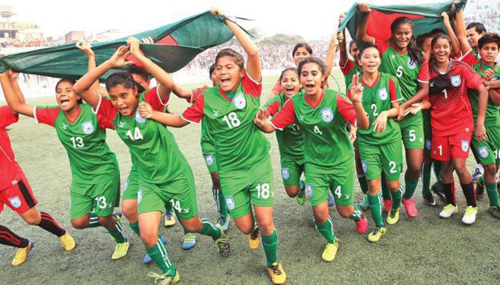 Bangladeshi girls clinch JCGI Youth Football title