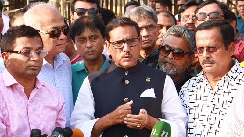 Road not responsible for Rajib's death, says obaidul