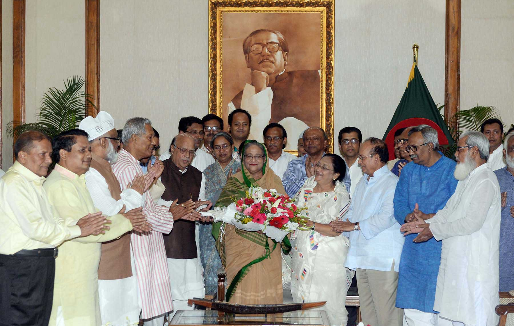 38th homecoming day of Sheikh Hasina observed