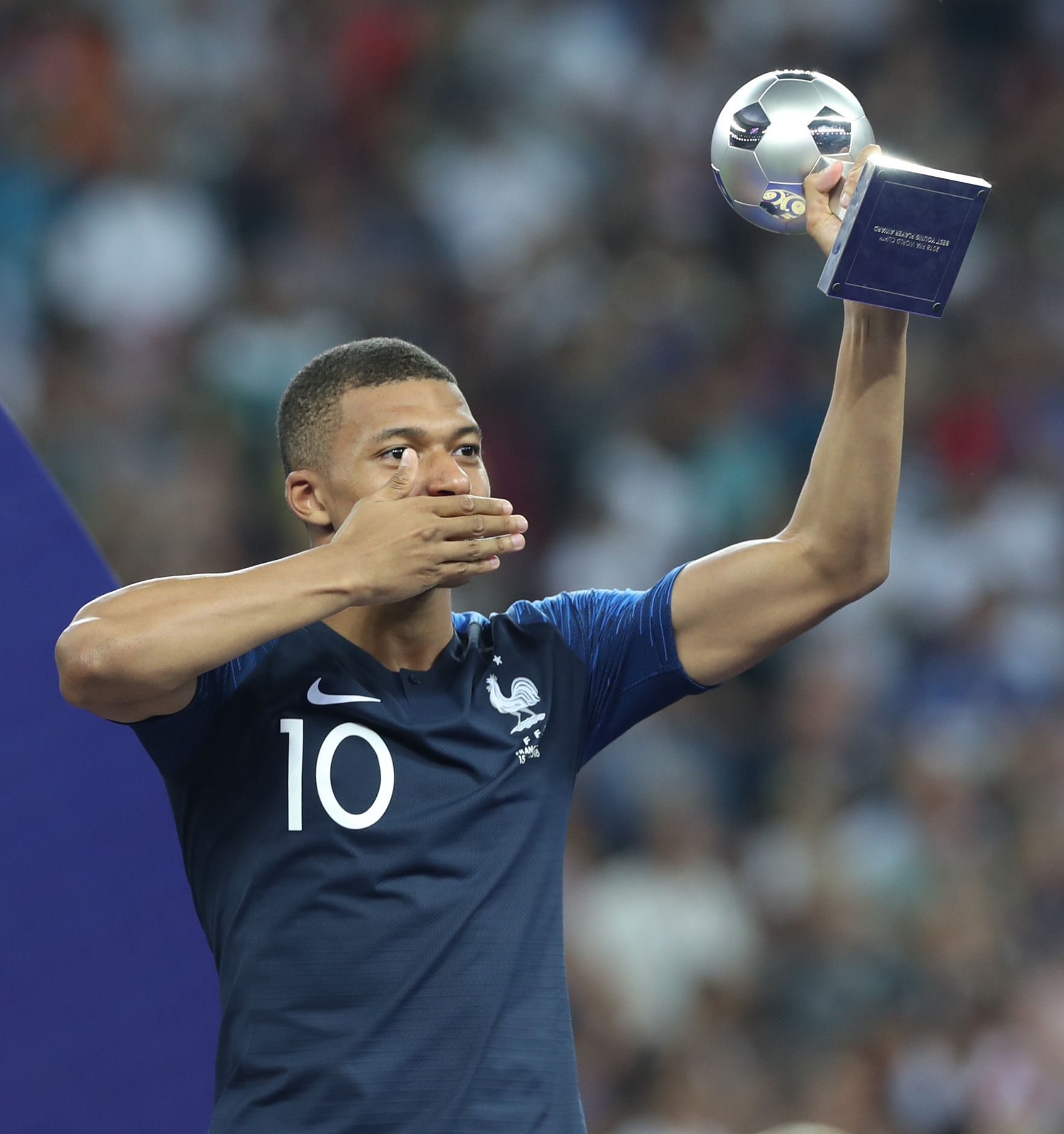French forward Kylian Mbappé