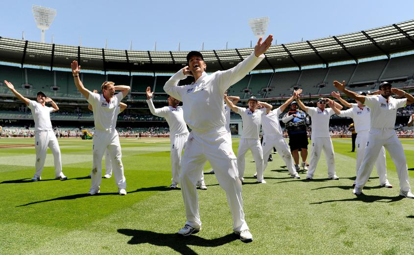 The Barmy Army did the Sprinkler along with Swann