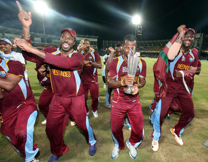 West Indies celebrated their ICC World T20 2012 win with the Gangnam style