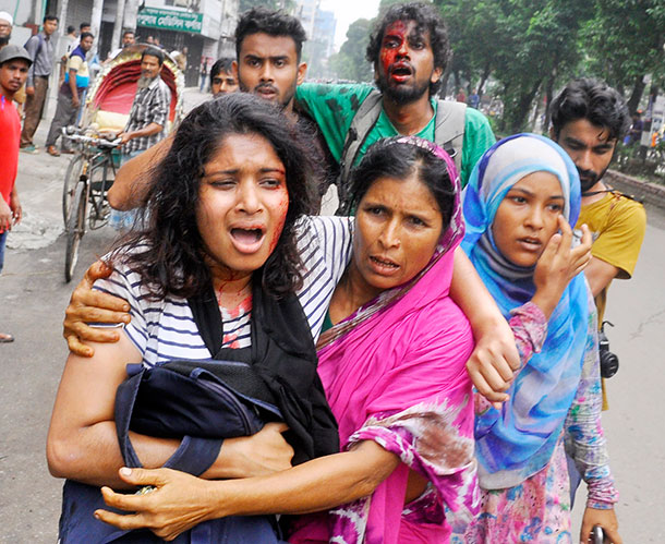 US condemns attacks on protesters