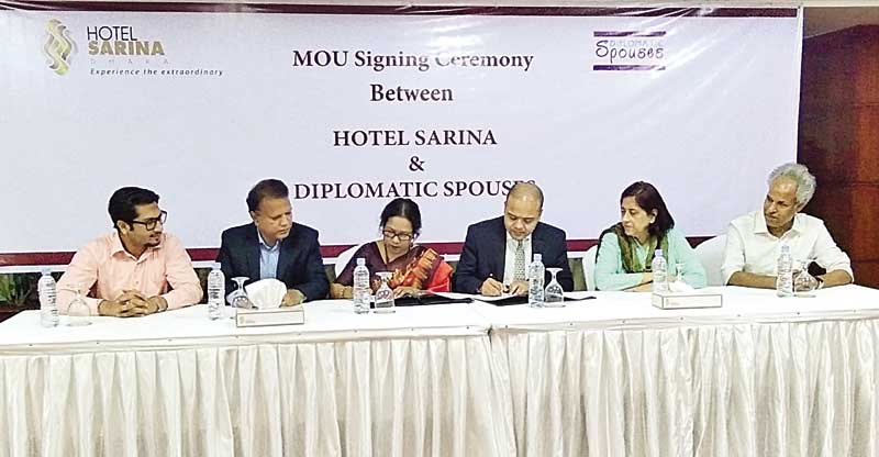 Diplomatic Spouses sign a MoU with Hotel Sarina