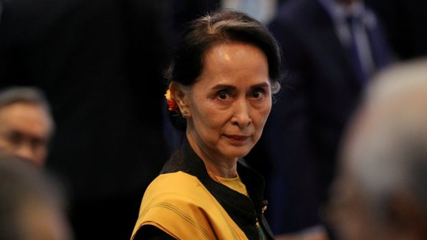 Aung San Suu Kyi has also been accused of ignoring violence against the Rohingya