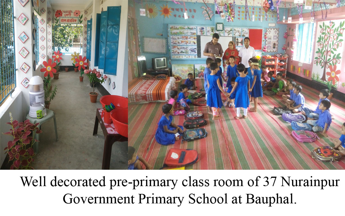 Colourful class rooms delight pre-primers in Bauphal