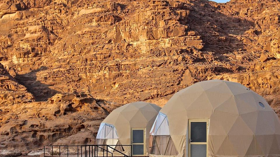 "Inspired by the 2015 Oscar-nominated film ""The Martian,"" Sultan Al-Nawafleh, CEO of the camp, decided to build it in Wadi Rum desert, which was also close to where the movie was filmed"