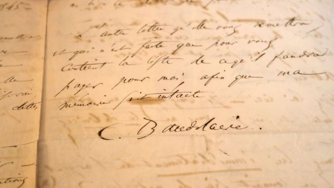French poet Baudelaire suicide letter sold at auction