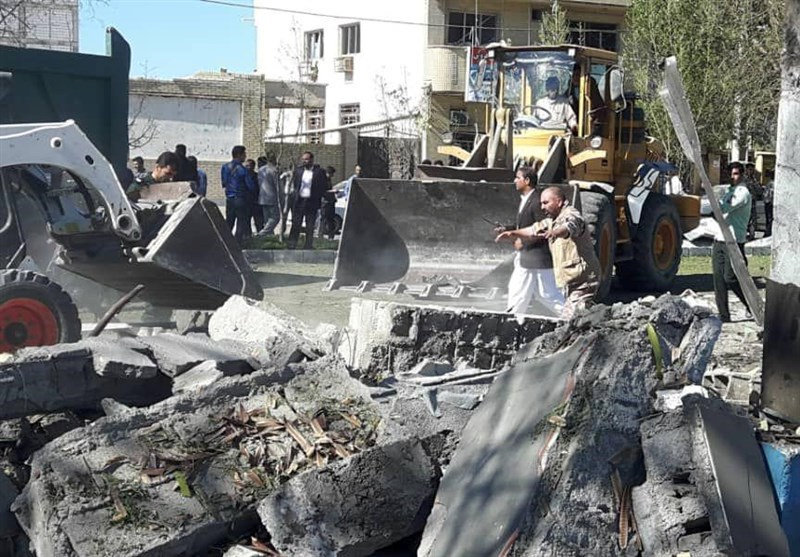 General view of damages after a bomb inside a car exploded outside a police station in Chabahar, Iran December 6, 2018. — Tasnim News Agency handout via Reuters