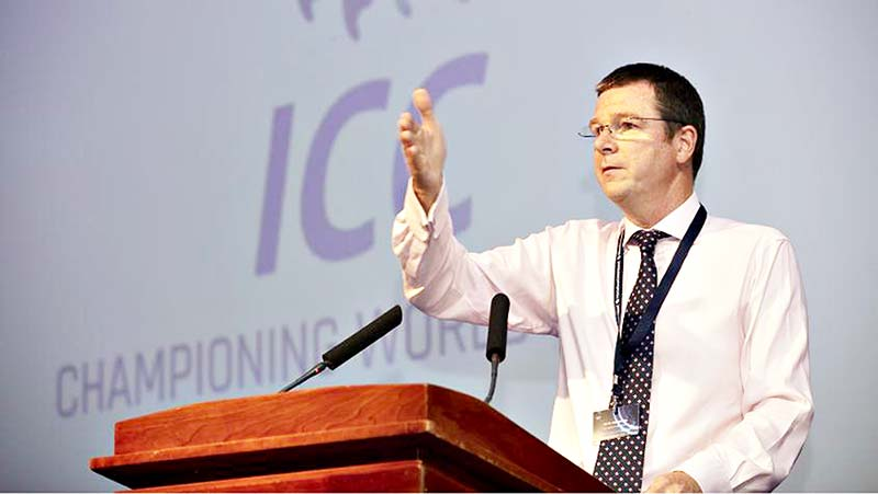 Alex Marshall, the ICC's General Manager.