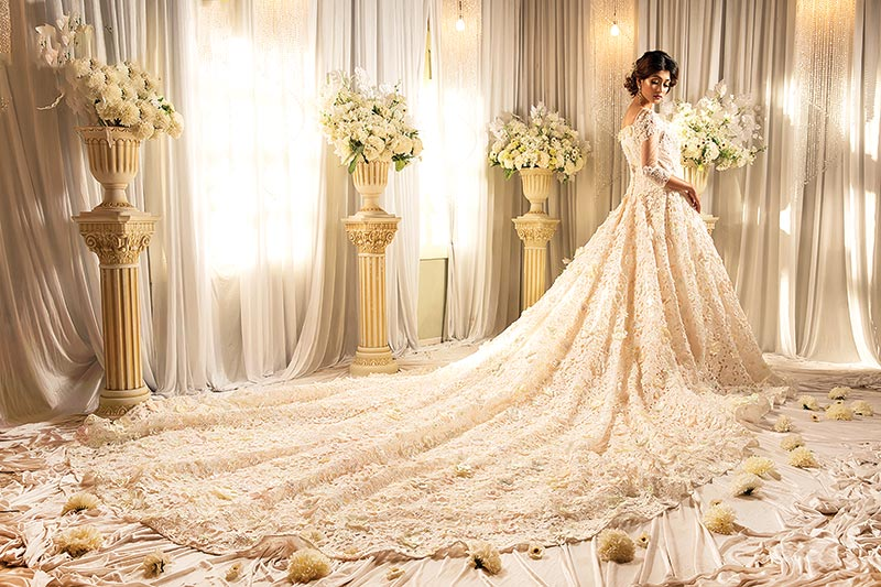 Exclusive gown to rejoice for newly married