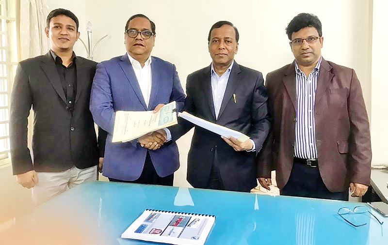 WMS MD & PEL Chairman exchange documents after signing an agreement