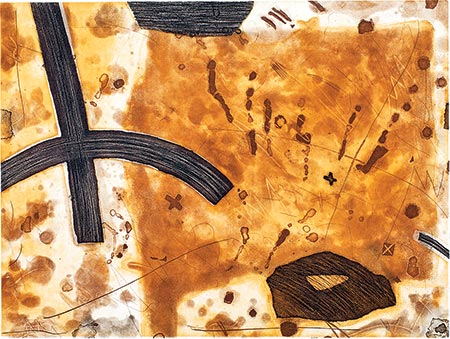 Dusty Grain Field, Etching and Aquatint, 1996