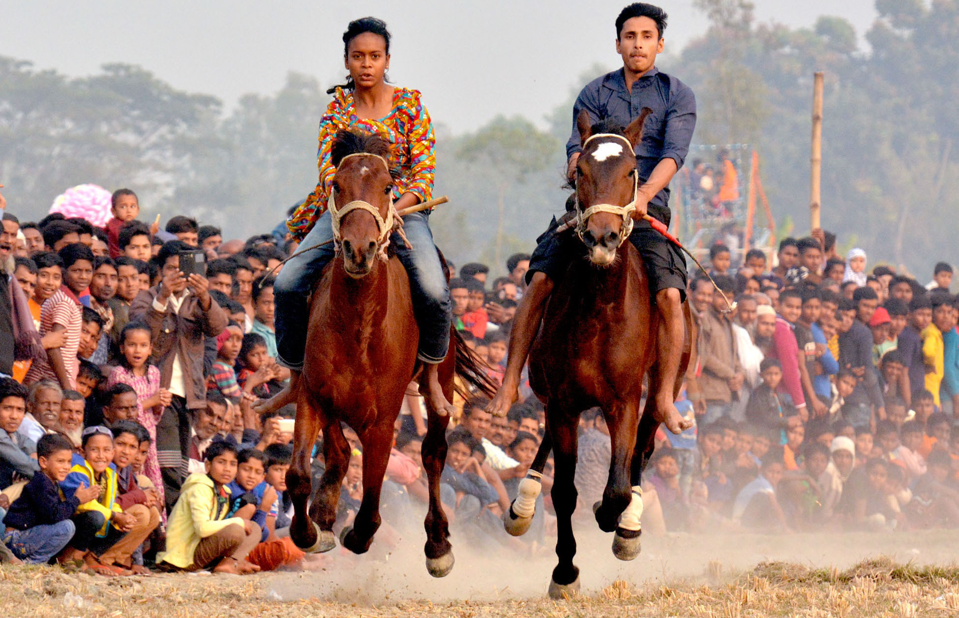 Traditional horse race enthralls hundreds