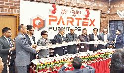 Mohamad Shahed inaugurating a new showroom of Partex Furniture