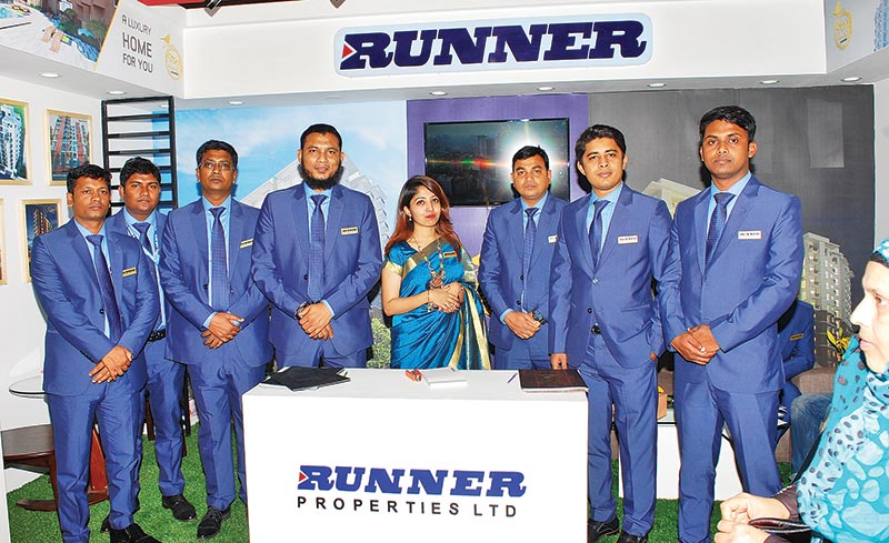 Runner Properties officials seen at the company's stall at REHAB Fair