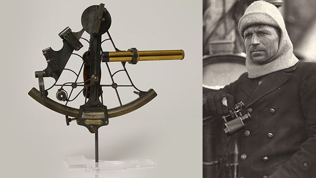 Frank Worsley used his sextant to record the position of the sinking