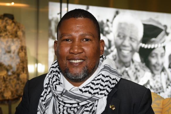 Mandla Mandela, grandson of Nelson, at the London launch of 'Mandela: The Official Exhibition,' for which he was co-executive producer.