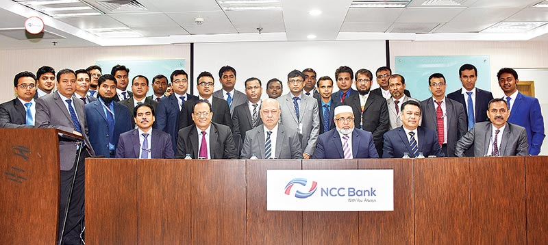 NCC Bank DMD poses for photograph with the participants