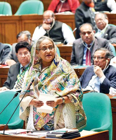 Oikyafront's JS boycott politically wrong: Hasina tells parliament