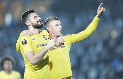 Chelsea edge out Malmo as Arsenal suffer Europa League setback
