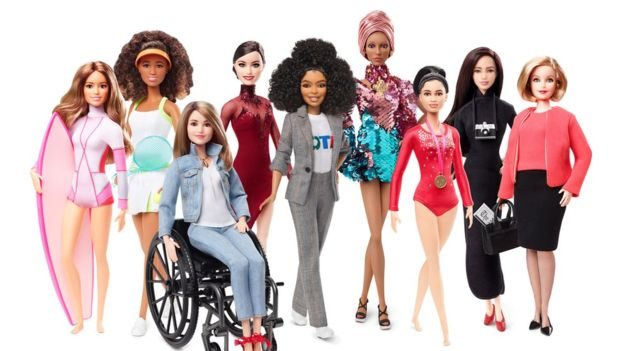Some of the 2019 Shero dolls released by Mattel