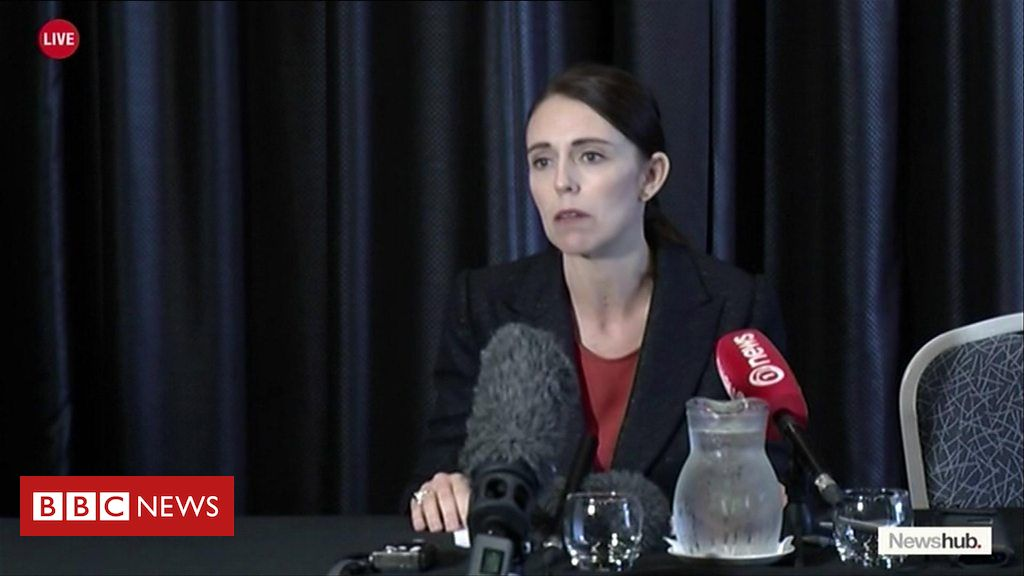 New Zealand's Prime Minister Jacinda Ardern speaks about the shooting incidents at Christchurch mosques.