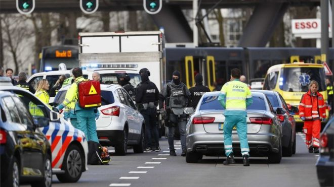 'Three dead' in Dutch tram shooting