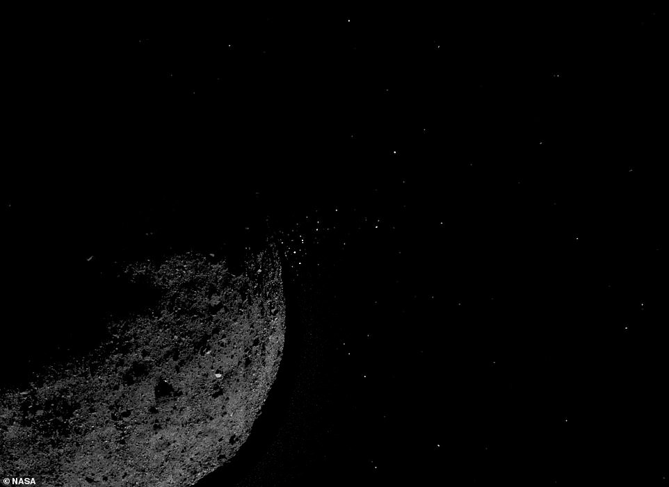 NASA spots particle plumes erupting from near-Earth asteroid Bennu