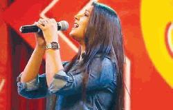 Somlata performs in Dhaka