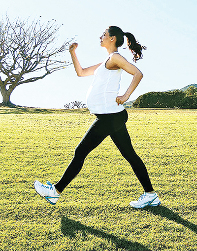 Exercise during pregnancy protects children from obesity