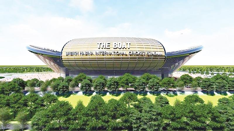 The proposed model of Sheikh Hasina International Cricket Stadium.photo: Courtesy